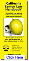 California Lemon Law Handbook